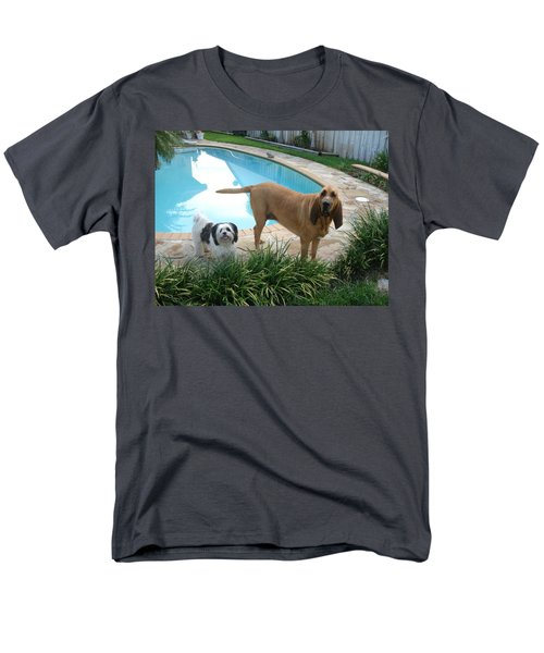 Cujo And Lucky Men's T-Shirt  (Regular Fit) by Val Oconnor