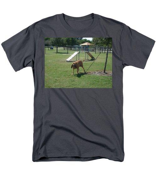 Cujo Running At The Park Men's T-Shirt  (Regular Fit) by Val Oconnor
