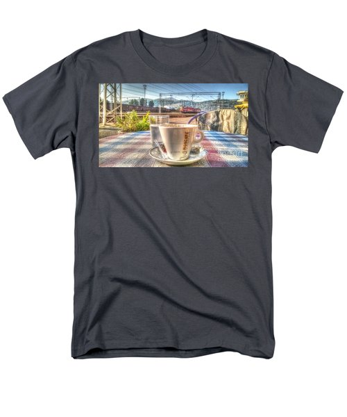 Cup Of Coffee On A Sunny Day Men's T-Shirt  (Regular Fit) by Yury Bashkin