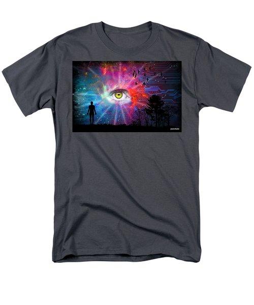 Cyber Sky Men's T-Shirt  (Regular Fit) by Paulo Zerbato