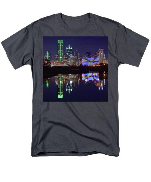 Men's T-Shirt  (Regular Fit) featuring the photograph Dallas Texas Squared by Frozen in Time Fine Art Photography