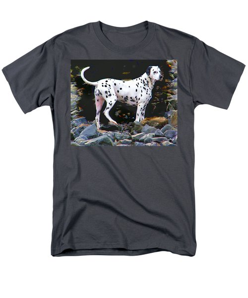 Men's T-Shirt  (Regular Fit) featuring the photograph Dalmatian On The Rocks by Wendy McKennon