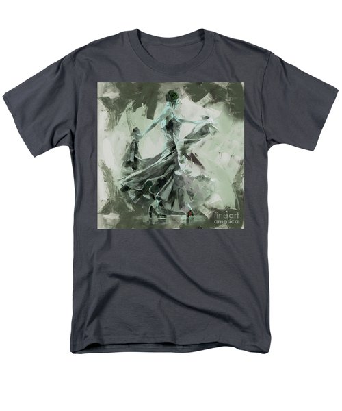 Men's T-Shirt  (Regular Fit) featuring the painting Dance Flamenco Art  by Gull G