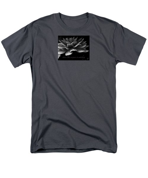 Men's T-Shirt  (Regular Fit) featuring the photograph Dance Like Everyone Is Watching With Text by Geri Glavis