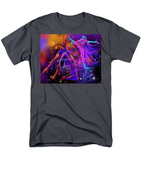 Men's T-Shirt  (Regular Fit) featuring the painting Dancing With The Universe by DC Langer