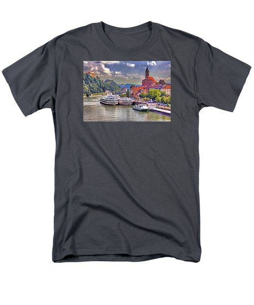 Men's T-Shirt  (Regular Fit) featuring the photograph Danube At Passau by Dennis Cox WorldViews