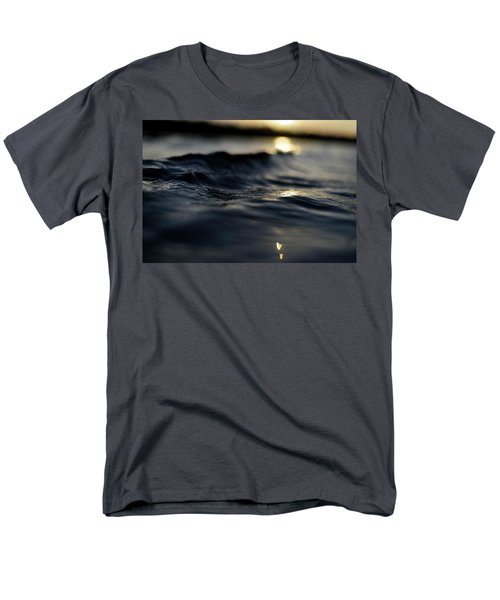 Men's T-Shirt  (Regular Fit) featuring the photograph Dark Atlantic Traces by Laura Fasulo