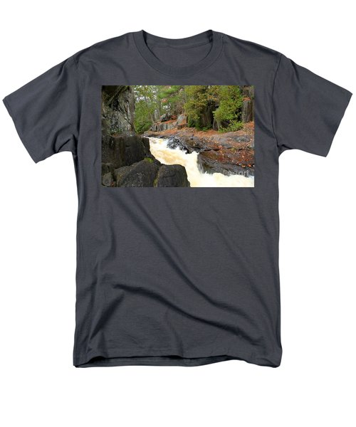 Men's T-Shirt  (Regular Fit) featuring the photograph Dave's Falls #7311 by Mark J Seefeldt