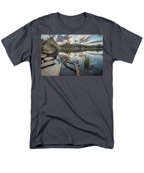 Men's T-Shirt  (Regular Fit) featuring the photograph Dawn At Sylvan Lake by Adam Romanowicz
