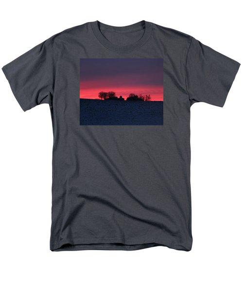 December Farm Sunset Men's T-Shirt  (Regular Fit) by Kathy M Krause