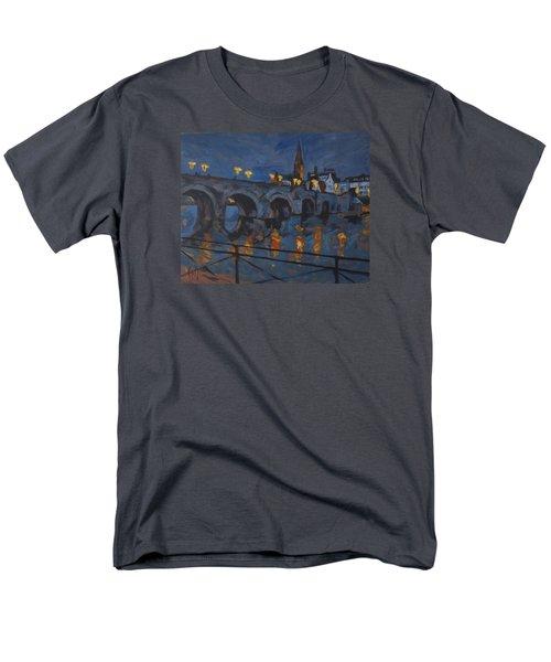 December Lights Old Bridge Maastricht Acryl Men's T-Shirt  (Regular Fit)