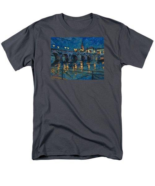 December Lights Old Bridge Maastricht Men's T-Shirt  (Regular Fit) by Nop Briex