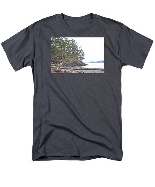 Deception Pass In Late December  Men's T-Shirt  (Regular Fit) by Tobeimean Peter