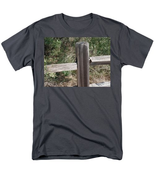 Men's T-Shirt  (Regular Fit) featuring the photograph Decorative View - Central Texas Fence Line by Ray Shrewsberry