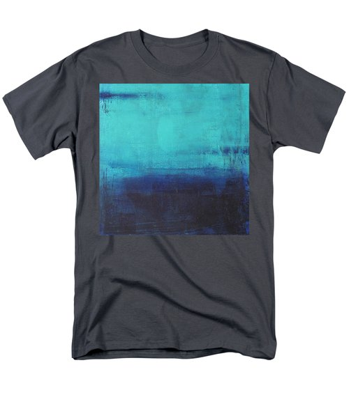 Men's T-Shirt  (Regular Fit) featuring the painting Deep Blue Sea by Nicole Nadeau