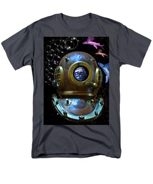 Deep Diver In Delirium Of Blue Dreams Men's T-Shirt  (Regular Fit) by Pedro Cardona