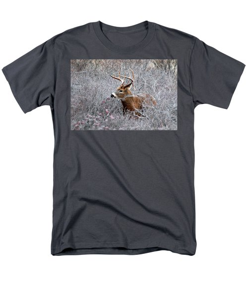 Deer On A Frosty Morning  Men's T-Shirt  (Regular Fit) by Nancy Landry