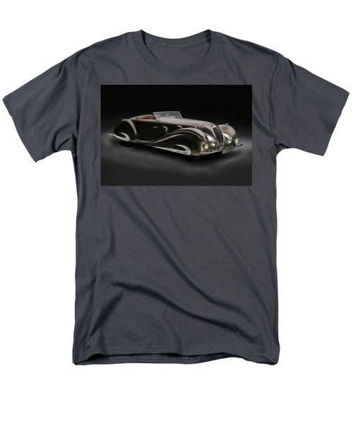 Men's T-Shirt  (Regular Fit) featuring the digital art Delahaye 1930's Art In Motion by Marvin Blaine