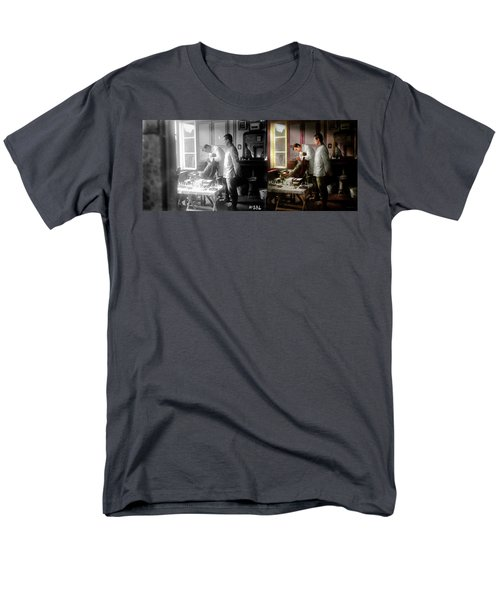 Men's T-Shirt  (Regular Fit) featuring the photograph Dentist - The Horrors Of War 1917 - Side By Side by Mike Savad