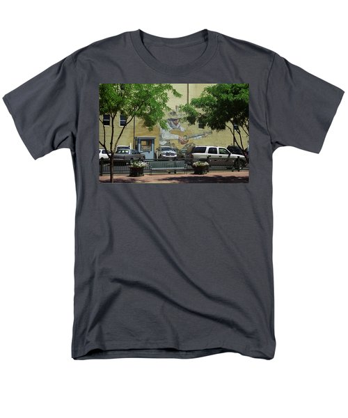 Men's T-Shirt  (Regular Fit) featuring the photograph Denver Cowboy Parking by Frank Romeo