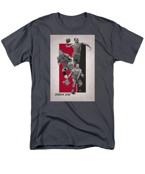 Derrick Rose Chicago Bulls Men's T-Shirt  (Regular Fit) by Joe Hamilton