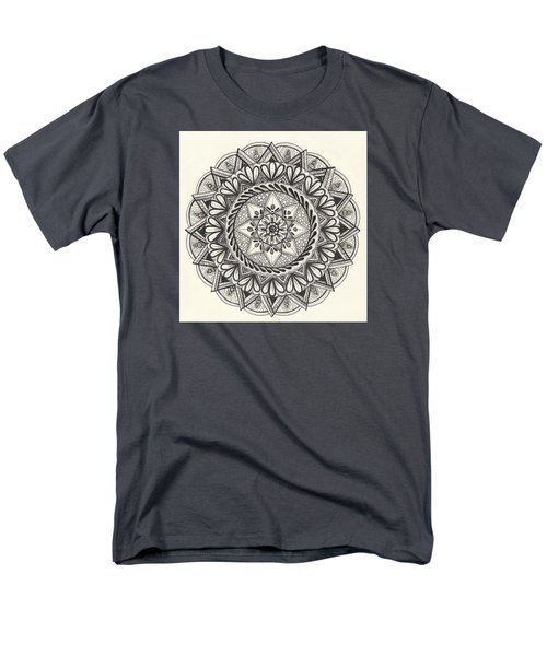 Men's T-Shirt  (Regular Fit) featuring the drawing Des Tapestry Medallion by Kathy Sheeran