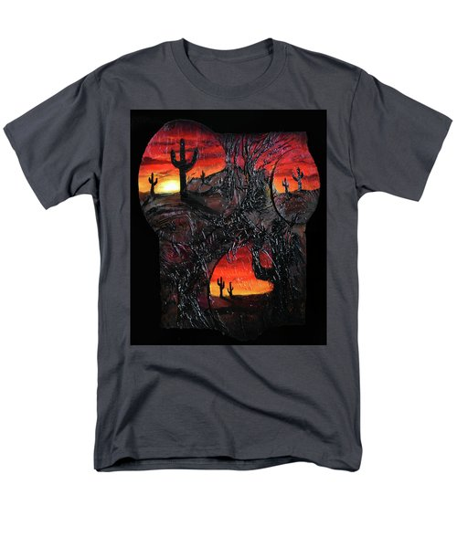 Men's T-Shirt  (Regular Fit) featuring the mixed media Desert by Angela Stout