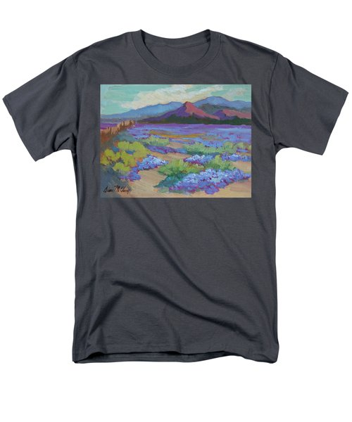 Men's T-Shirt  (Regular Fit) featuring the painting Desert In Bloom by Diane McClary