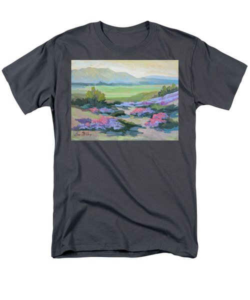 Men's T-Shirt  (Regular Fit) featuring the painting Desert Verbena 1 by Diane McClary