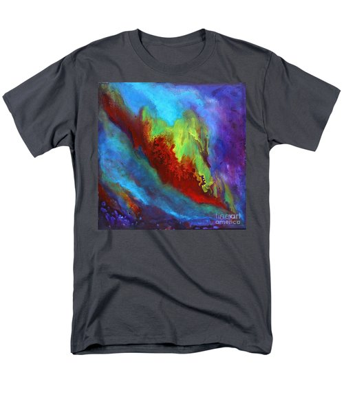 Desire A Vibrant Colorful Abstract Painting With A Glittering Center  Men's T-Shirt  (Regular Fit)