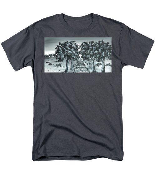 Men's T-Shirt  (Regular Fit) featuring the painting Destination 2 by Kenneth Clarke