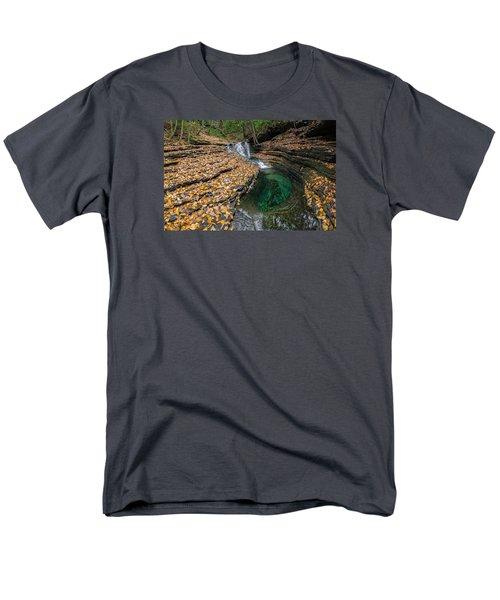 Men's T-Shirt  (Regular Fit) featuring the photograph Devils Bathtub Cascade by Serge Skiba