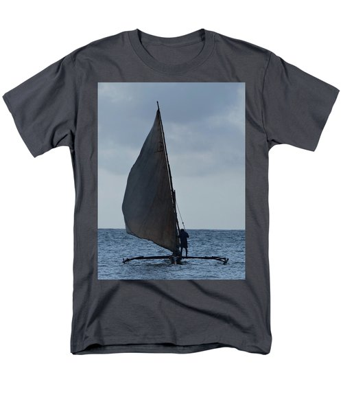 Dhow Wooden Boats In Sail Men's T-Shirt  (Regular Fit) by Exploramum Exploramum