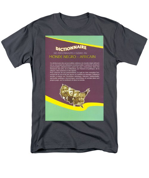 Dictionary Of Negroafrican Celebrities 2 Men's T-Shirt  (Regular Fit) by Emmanuel Baliyanga