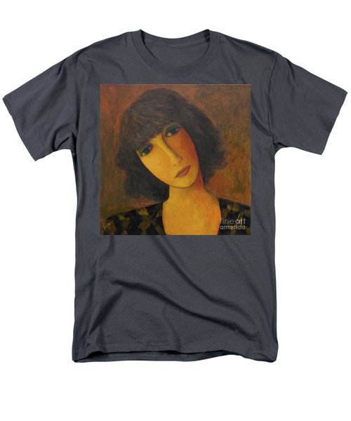 Men's T-Shirt  (Regular Fit) featuring the painting Disbelieving by Glenn Quist