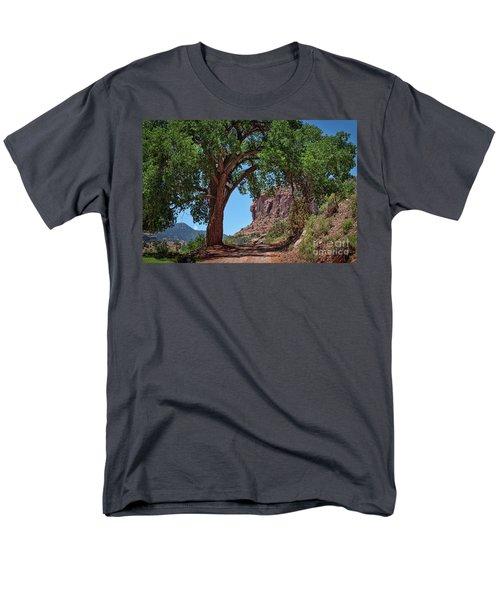 Distant Escalante Moon Men's T-Shirt  (Regular Fit) by Janice Rae Pariza