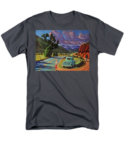 Men's T-Shirt  (Regular Fit) featuring the painting Divergent Paths by Art West