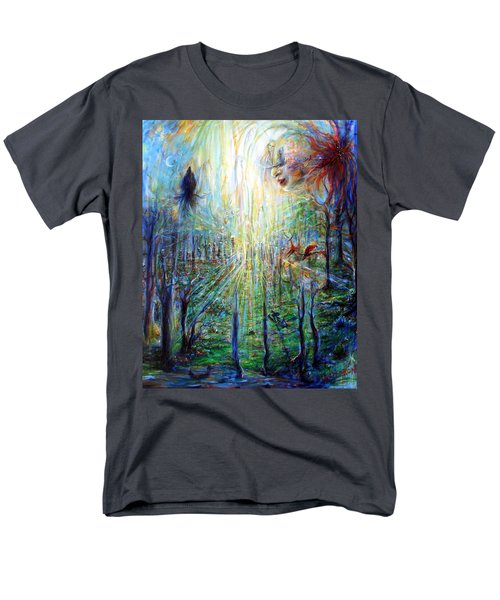 Divine Mother Earth Men's T-Shirt  (Regular Fit) by Heather Calderon