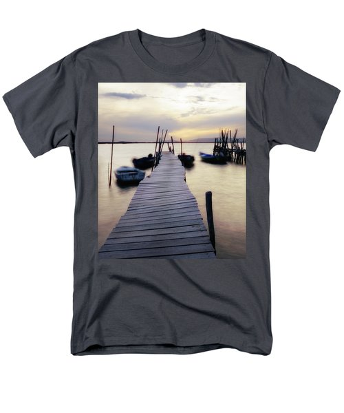 Dock At Sunset Men's T-Shirt  (Regular Fit)