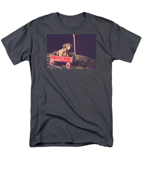 Doggy In A Wagon Men's T-Shirt  (Regular Fit) by Teresa Blanton