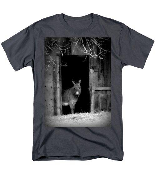 Donkey In The Doorway Men's T-Shirt  (Regular Fit) by Michael Dohnalek