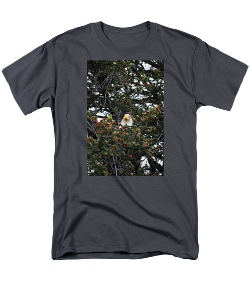Men's T-Shirt  (Regular Fit) featuring the photograph Don't Let Him Fool You He Might Be Blinking But He's Still Watching Me by Dacia Doroff