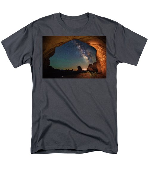 Double Arch Milky Way Views Men's T-Shirt  (Regular Fit) by Darren White
