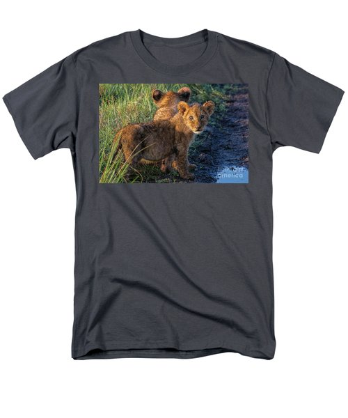 Men's T-Shirt  (Regular Fit) featuring the photograph Double Trouble by Karen Lewis