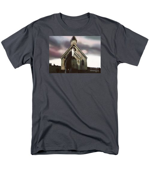 Men's T-Shirt  (Regular Fit) featuring the painting Doubt Or Faith by Dave Luebbert