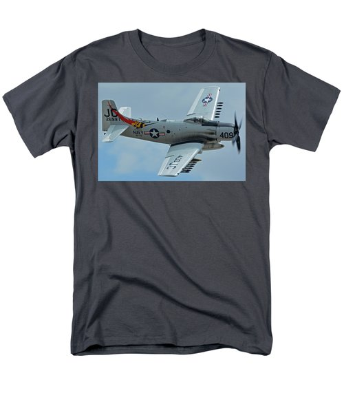 Men's T-Shirt  (Regular Fit) featuring the photograph Douglas A-1d Skyraider Nx409z Chino California April 30 2016 by Brian Lockett