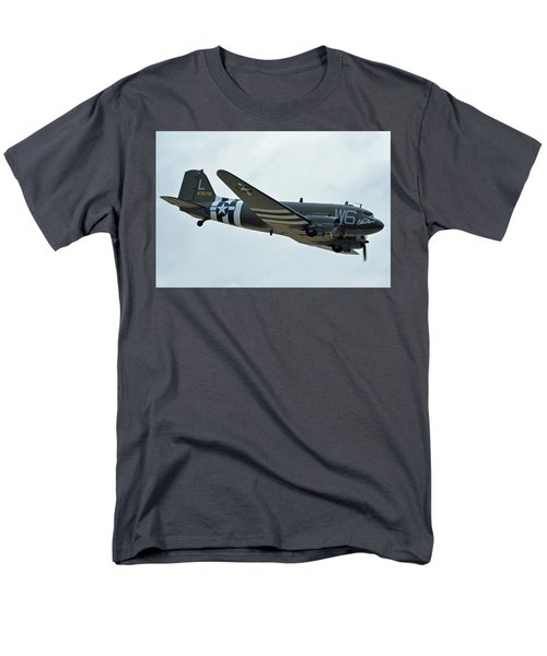 Men's T-Shirt  (Regular Fit) featuring the photograph Douglas C-47b Dakota N791hh Willa Dean Chino California April 30 2016 by Brian Lockett