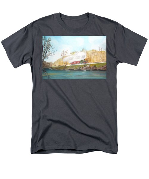 Down By The River Side Men's T-Shirt  (Regular Fit) by Carole Robins