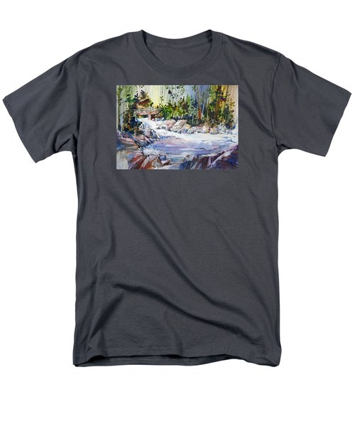 Down Stream On Hoppers Creek Men's T-Shirt  (Regular Fit) by P Anthony Visco