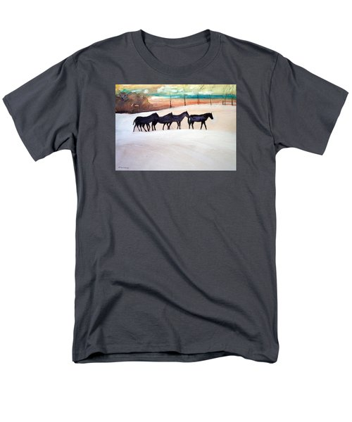 Downs Stables Men's T-Shirt  (Regular Fit) by Ed Heaton